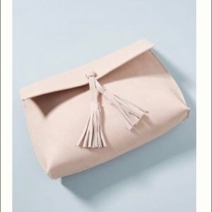 Anthropologie Dreia Envelope Crossbody Clutch Pink